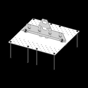 Опорная пластина под ПВХ-мембрану