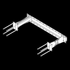 Центральный кронштейн для крепления пожарной лестницы к сэндвич-панели