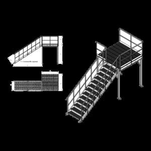 Маршевая пожарная лестница П2