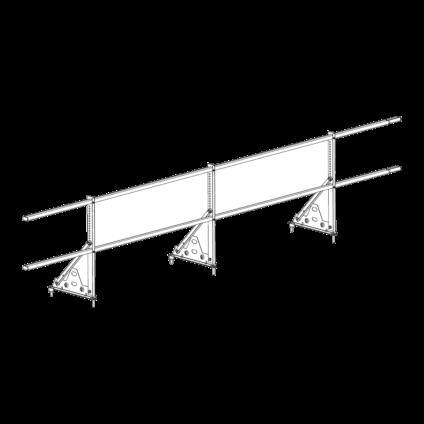 Ограждение PROMO ZN 40х20 (овал) Н-600 (2трубы)