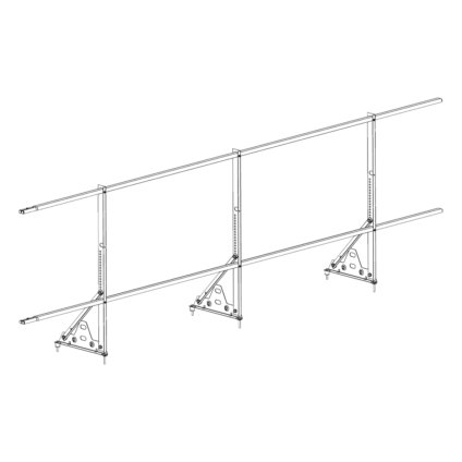 Ограждение PROMO ZN 40х20 (овал) Н-900 (2трубы)