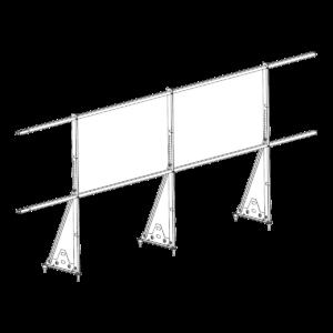 Ограждение PROMO ZN 40х20 (овал) Н-1200 (2трубы)