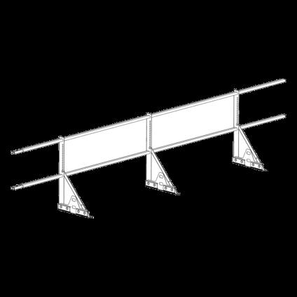 Ограждение PROMO ZN 40х20 (овал) фальц Н-600 (2трубы)
