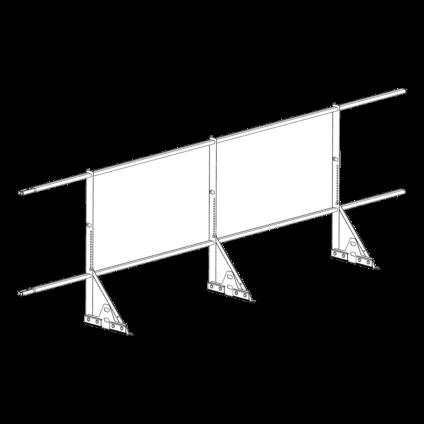 Ограждение PROMO ZN 40х20 (овал) фальц Н-900 (2трубы)