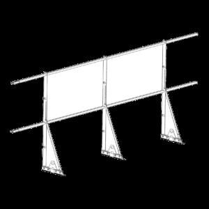 Ограждение PROMO ZN 40х20 (овал) фальц Н-1200 (2трубы)