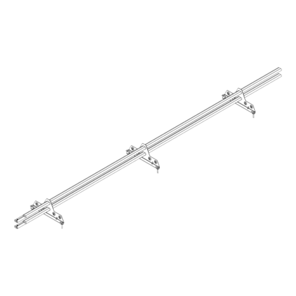 Снегозадержатель PROMO ZN 40x20 (овал) 3,0м 3 опоры