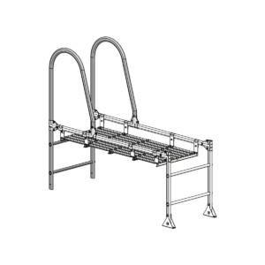Парапетный мостик PRESTIGE ZN 400_600 1,5м